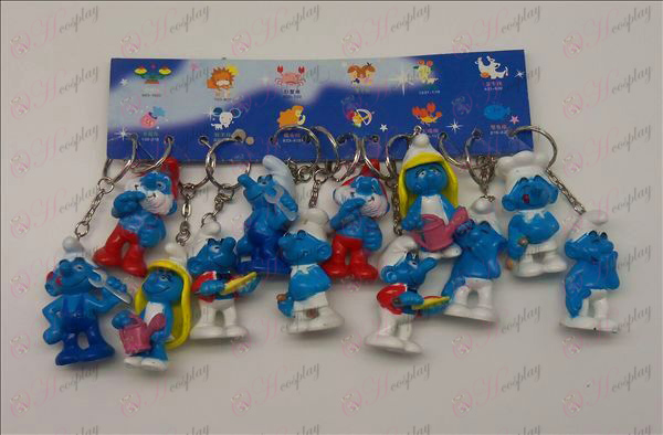 12 De Smurfen Accessoires Sleutelhangers