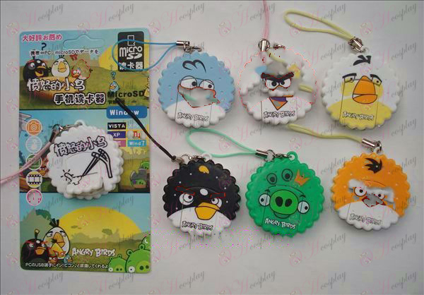 Angry Birds Accessori Card Reader (6 / set)