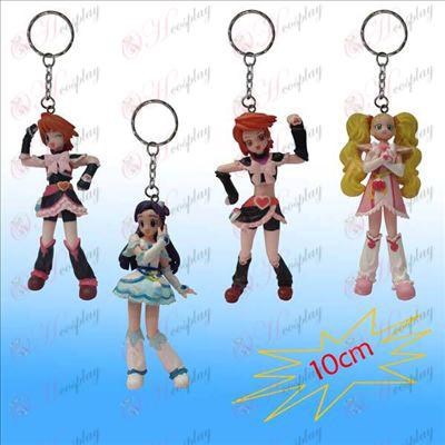 1 Generation 4 modeller lys pige dukke nøglering