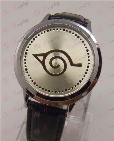 Avançado Touch Screen LED Watch (Naruto Konoha)