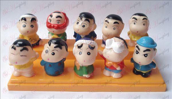 10 Crayon Shin-chan Tilbehør dam plastik dukke
