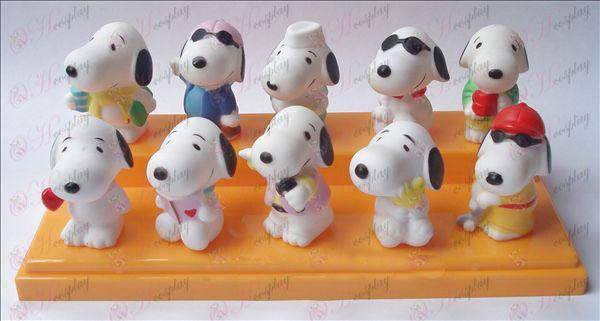 10 Snoopy езерото кукла пластмаса