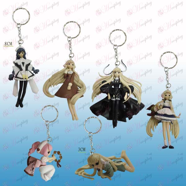 6 Angel Heart doll key chain