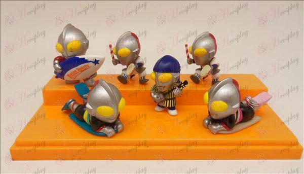 6 בובות אבזרים Ultraman