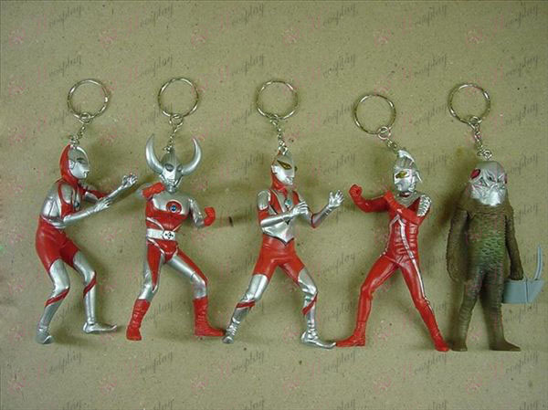 4 Generation 5 modelli Portachiavi Superman Ultraman Accessori
