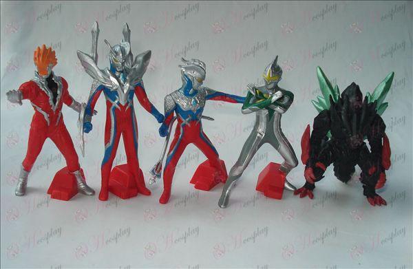 5 דגמים סופרמן Ultraman אבזרים