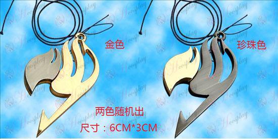 Fairy Tail Acessórios-fada bandeira dicróica colar