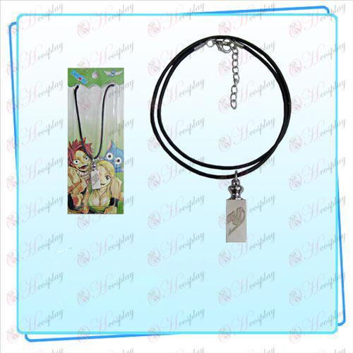 Fairy Tail Acessórios pesos colar de corda preta