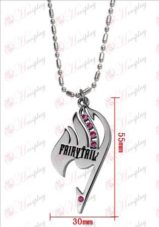 Fairy Tail com colar de diamante (diamante rosa)