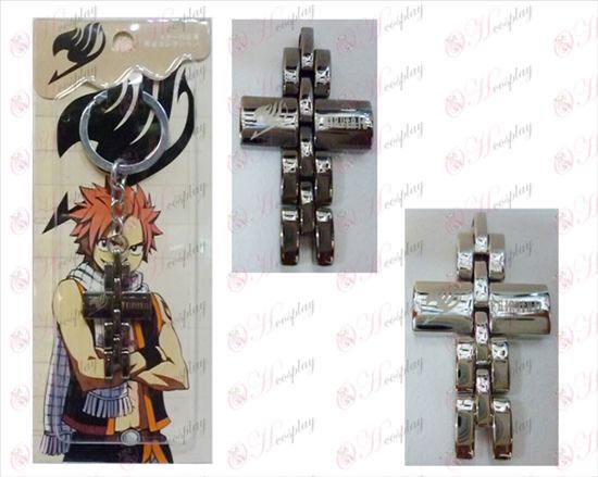 Fairy Tail tillbehör svart och vitt kors kedjar