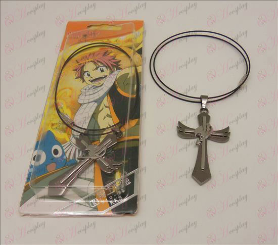 D Cross Necklace (Fairy Tail accesorios) de cadena de acero