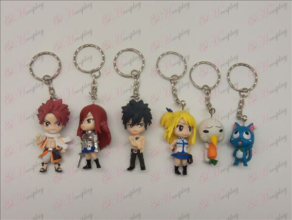 6 Fairy Tail Accessories Doll Keychain