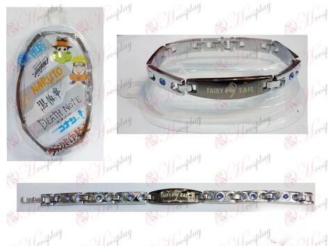 Fairy Tail Accesorios brazalete de diamantes de acero inoxidable