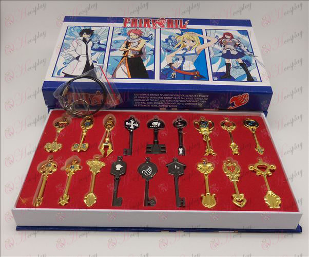 18 models Fairy Tail Accessories Keychains
