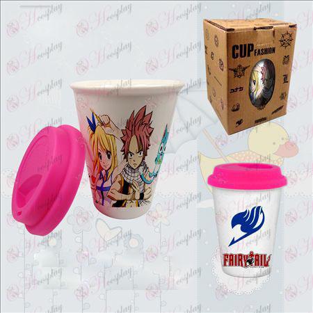 כוסות קרמיקה צבעוניות כפולות (אבזרים זנב פיה)