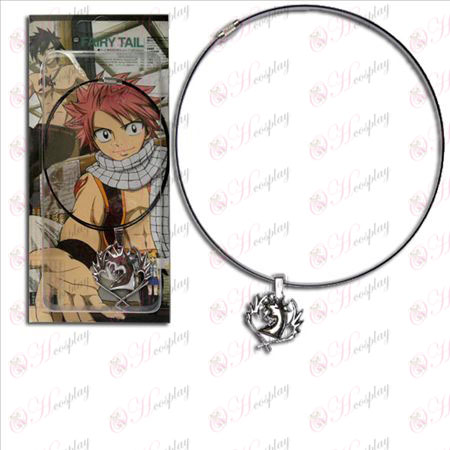 Demon Tail guild 2 flag cyan Pegasus Pendant Necklace