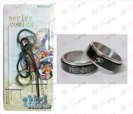 Fairy Tail Accessoires Noir Bague acier Collier transporteur - Rope