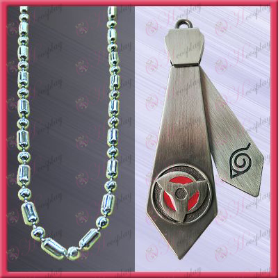Naruto - kakashi write round eyes tie necklace (movable)