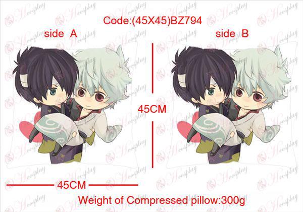 (45X45) BZ794-Gin Tama Acessórios Anime alinhou travesseiro quadrado