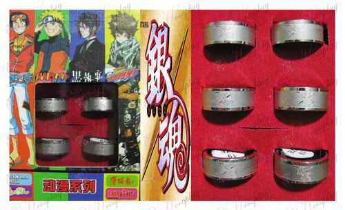 Gin Tama Zubehör Frosted Ring (6 / set)