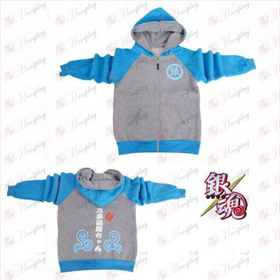 Gin Tama Tilbehør logo gaffel sleeve lynlås hoodie trøje