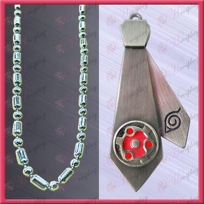 Naruto - foltok a vér kerek szemek nyakkendő nyaklánc (mozgatható)