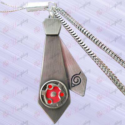 Naruto - пятна крови круглые глаза цепи машины галстук (подвижные)