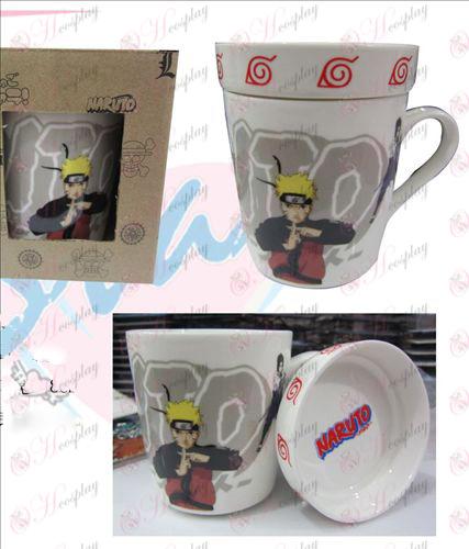 Cartoon kerámia csésze (fedéllel) Naruto