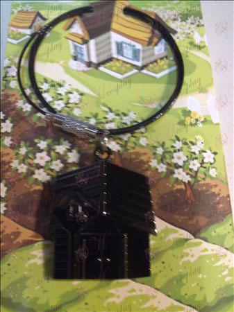 QQ Ranch collier (chaîne en acier noir)