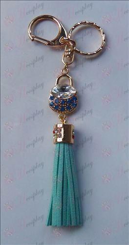 סל פירות אבזרים יהלומים הכחול Keychain