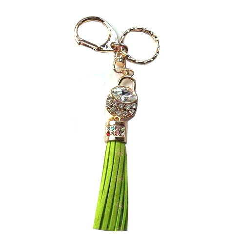 Fruits Basket Accessories White Diamond Keychain (Green)