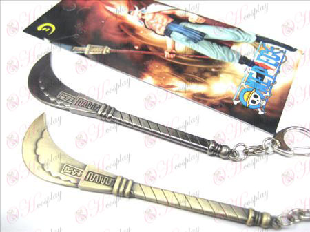 One Piece Accessori barba bianca coltello fibbia