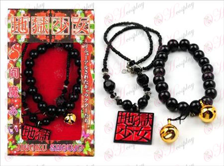 Packed Hell Girl Accessories Necklace + Bracelet