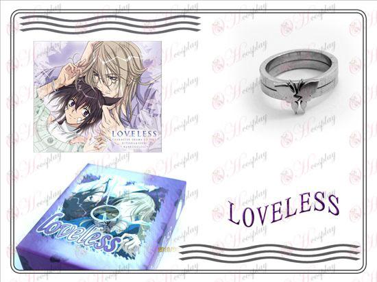 sin amor mariposa inoxidable par de anillos de acero (sección B)