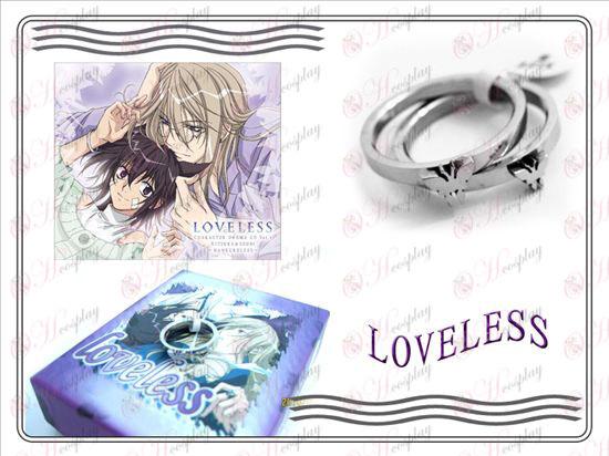sin amor mariposa inoxidable par de anillos de acero (una sección)