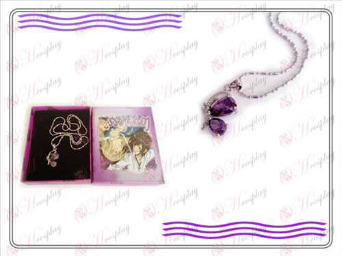 LOVELESS kolme sukupolvea perhonen kaulakoru (violetti)
