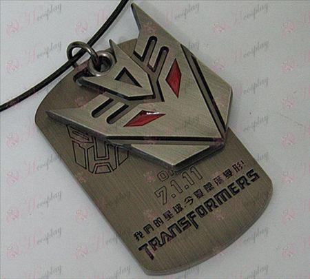 Transformers Accessories Decepticons double tag necklace - marked - Gun Color