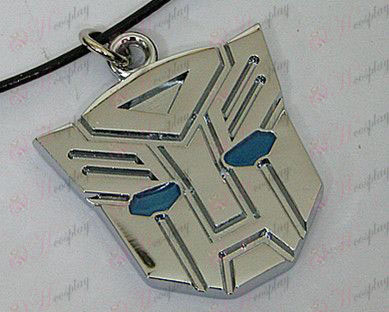 Transformers Accessories Autobots necklace - blue oil - white