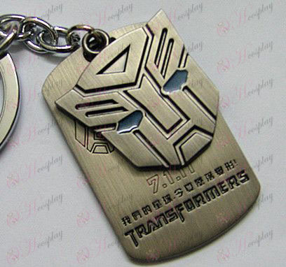 Transformers Accessories Autobots shuangpai Keychain - Blue Oil - Gun Color