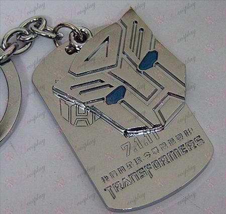 רובוטריקים Autobots אבזרים shuangpai Keychain - הנפט כחול - לבן