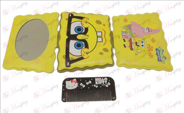 SpongeBob SquarePants Accessories mirror + comb (B)