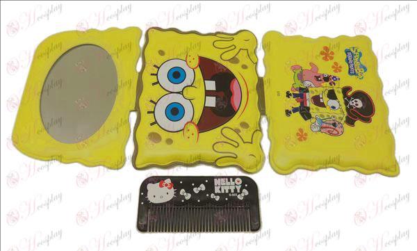 SpongeBob SquarePants accessoires miroir + peigne (A)