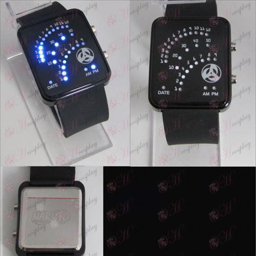 Naruto schrijven ronde ogen fan LED horloge