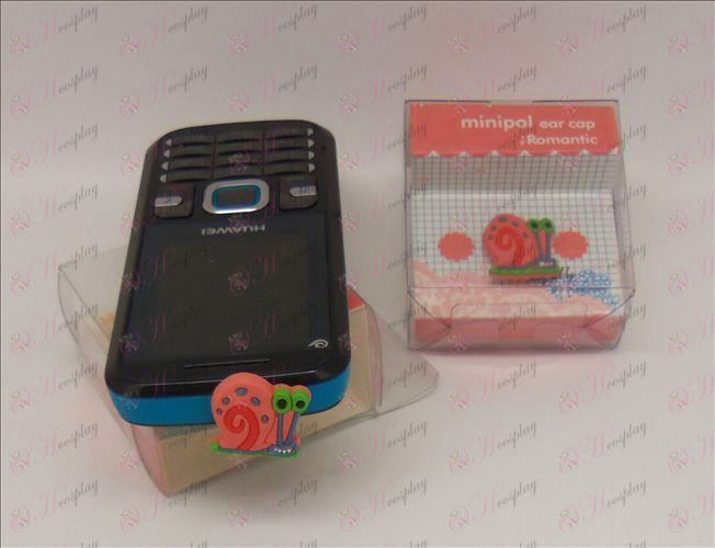 Teléfono celular enchufe del auricular (SpongeBob SquarePants Accesorios Red)