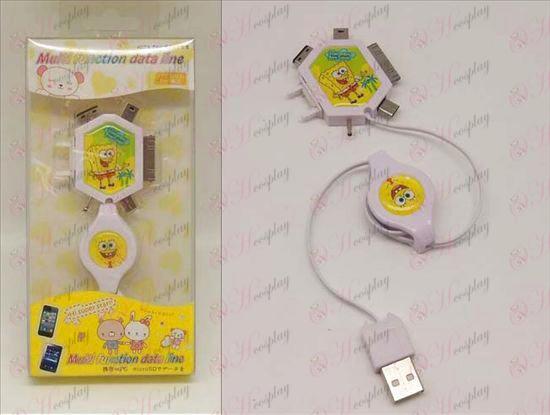 Multifunkčné nabíjací kábel (SpongeBob SquarePants príslušenstvo)