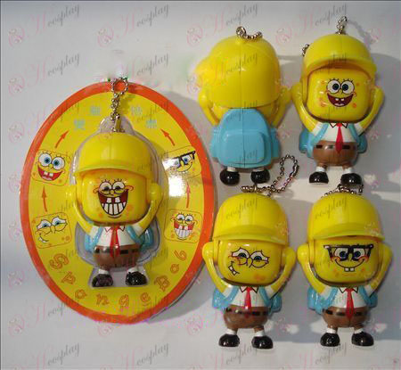 SpongeBob SquarePants Accessories face doll ornaments (a) Blue Bag