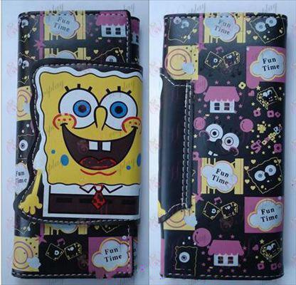 SpongeBob SquarePants Accessories color long wallet 1 (B paragraph 1)