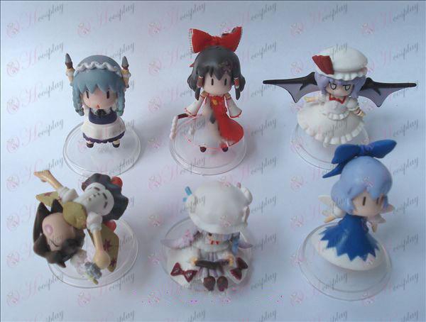 6 Hakurei Reimu Accesorios muñeca cuna (6 cm) Pequeño