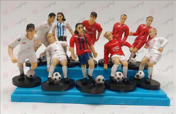10 fodbold stjerne dukke