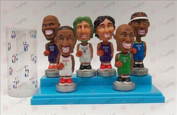6 NBA stjerne dukke (10cm)